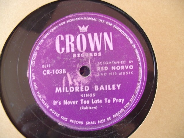 MILDRED BAILEY - CANT HELP LOVIN DAT MAN - CROWN