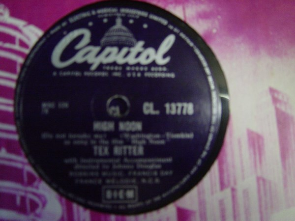 Tex Ritter - High Noon / Boogie Woogie Cowboy - Capitol CL13778