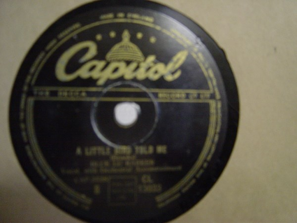Blue Lu Barker - What did you do to me - Capitol CL.13033
