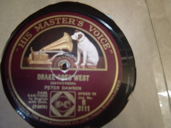 Peter Dawson - Drake goes West - HMV B.3111