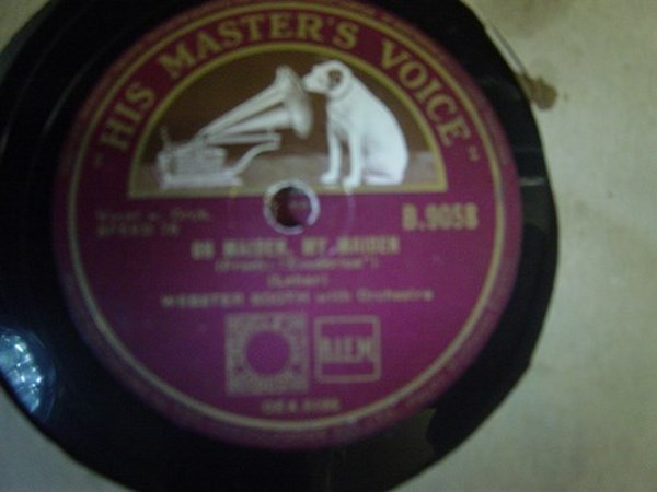 Webster Booth - Oh Maiden, My Maiden- HMV B.9058