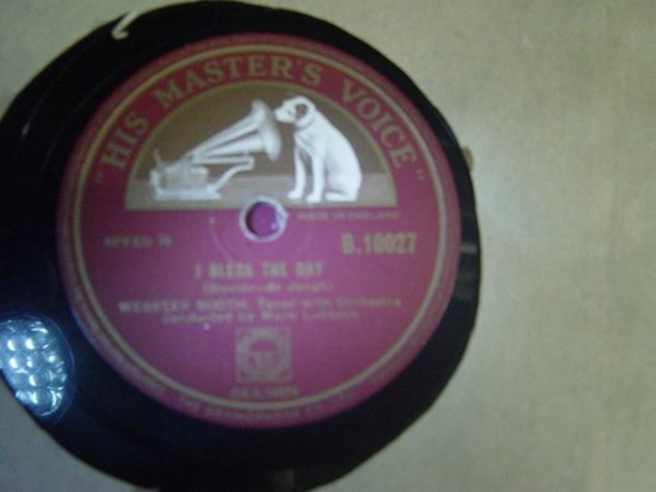 Webster Booth - I Bless the Day - HMV B. 10027 { Mint Minus