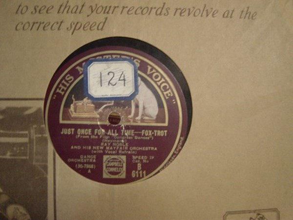 Ray Noble - Just once for all Time - HMV B.6111
