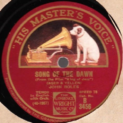 John Boles - Song of the Dawn - HMV B.3456
