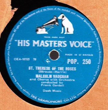Malcolm Vaughan - St. Therese of the Roses - HMV POP.250