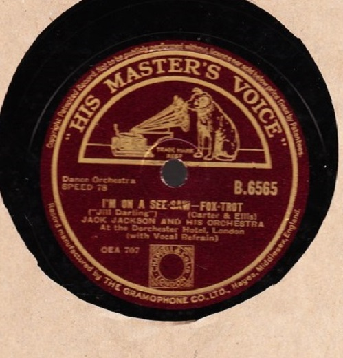 Jack Jackson - I'm on a See Saw - HMV B. 6565