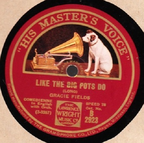 Gracie Fields - Like the big pots do - HMV B. 2923