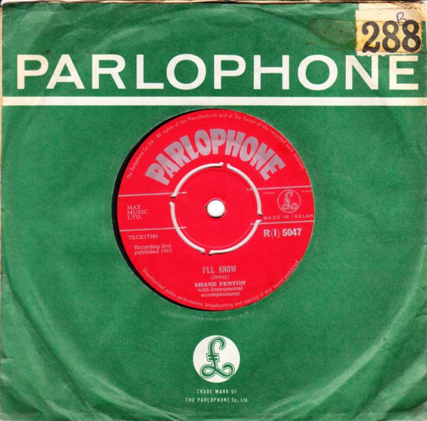 Shane Fenton - Dont do that - Parlophone Irish 43909