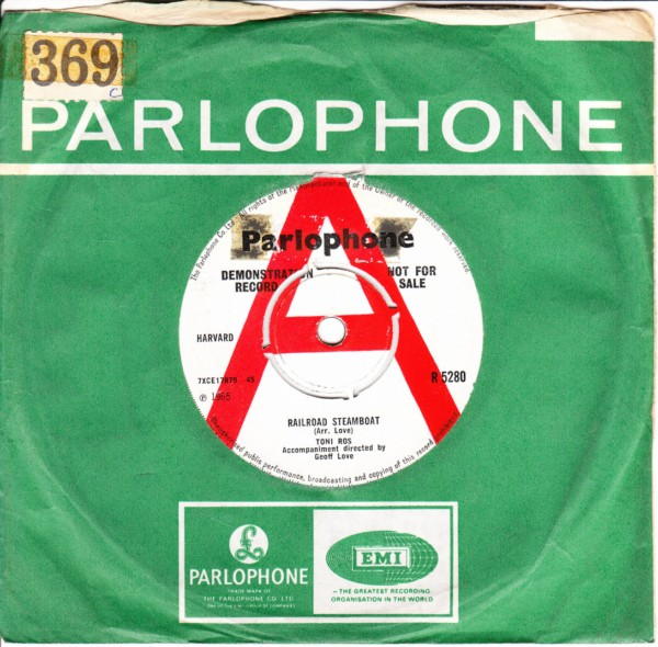 Toni Ros - Railroad Steamboat - Parlophone UK Demo 4391