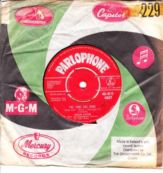 Adam Faith - The Time has come - Parlophone Irish 4392
