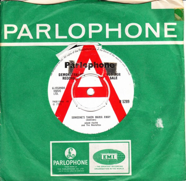 Adam Faith - Someones taken Maria - Parlophone UK DEMO 4398