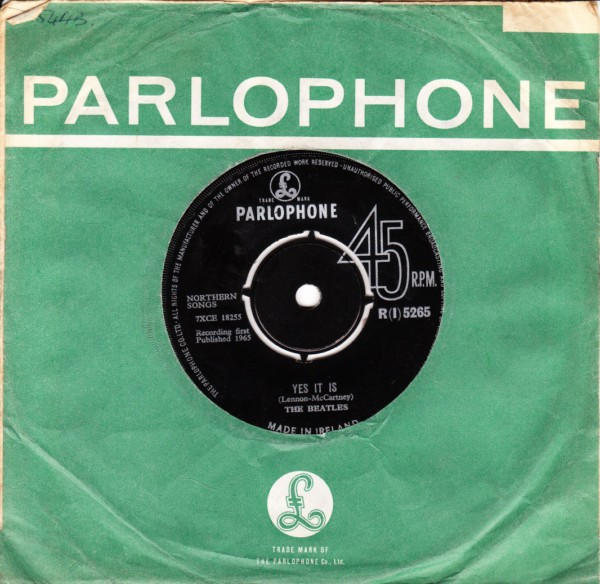 The Beatles - Ticket to Ride - Parlophone Irish 4406