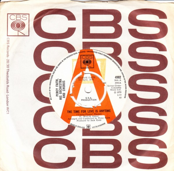 Percy Faith - Time for Love is anytime - CBS DEMO 4413