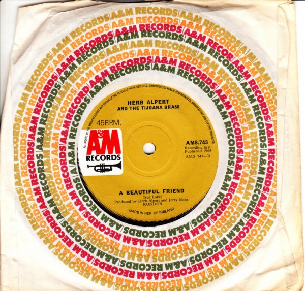 Herb Alpert - My Favourite things - A & M Irish 4220