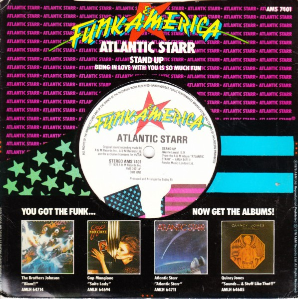 Atlantic Starr - Stand Up - A & M 4425