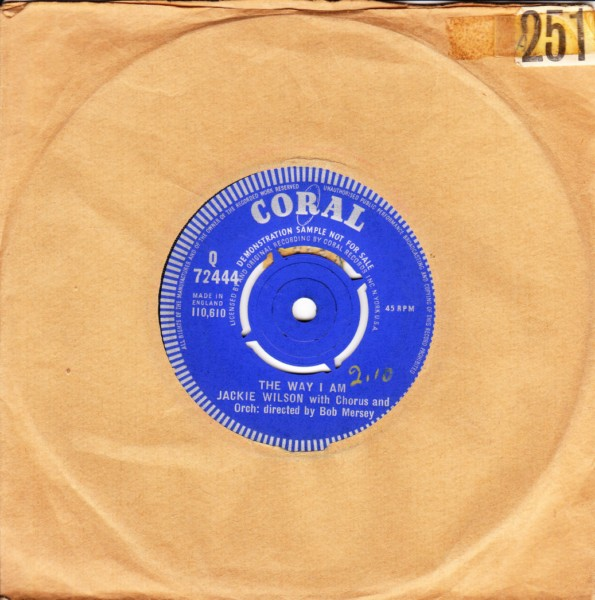 Jackie Wilson - My heart belongs to only you - Coral Demo 4430