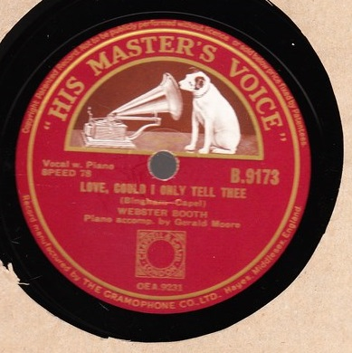 Webster Booth - I hear you calling me - HMV B.9173