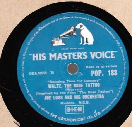 Joe Loss - Mambo Zambezi - HMV POP.183