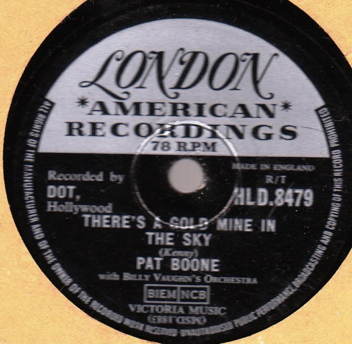 Pat Boone - Remember youre mine - London Records HLD. 8479