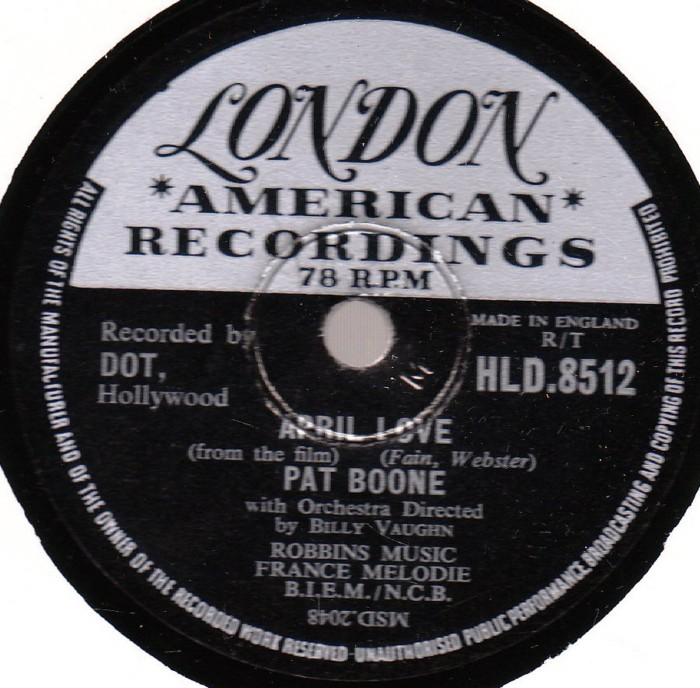 Pat Boone - April Love - London HLD. 8512