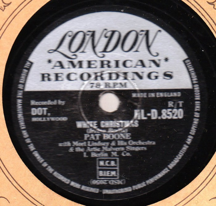 Pat Boone - White Christmas - London Records HLD. 8520 78