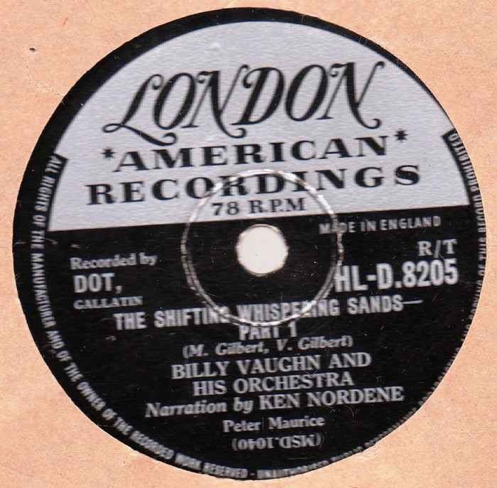Billy Vaughn - Shifting Whispering Sands - London HLD 8205