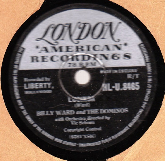 Billy Ward & Dominos - Lucinda - London HLU 8465