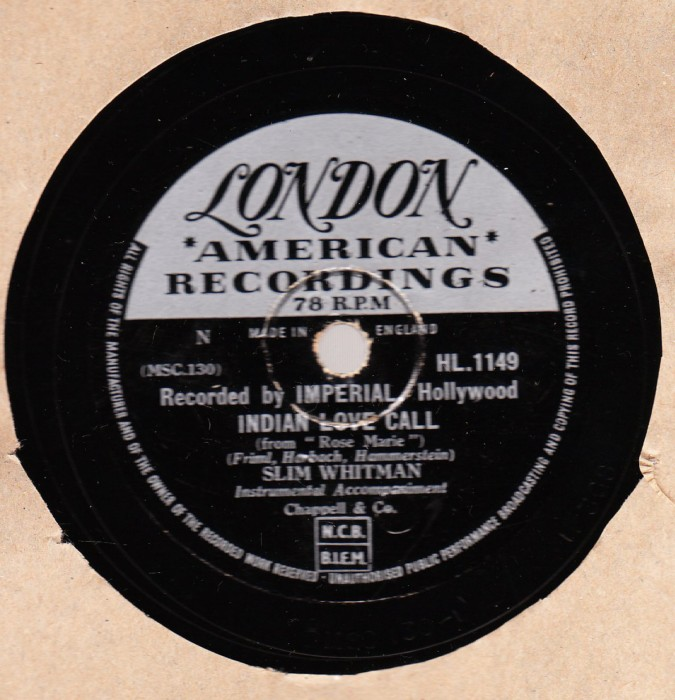 Slim Whitman - China Doll - London HL.1186