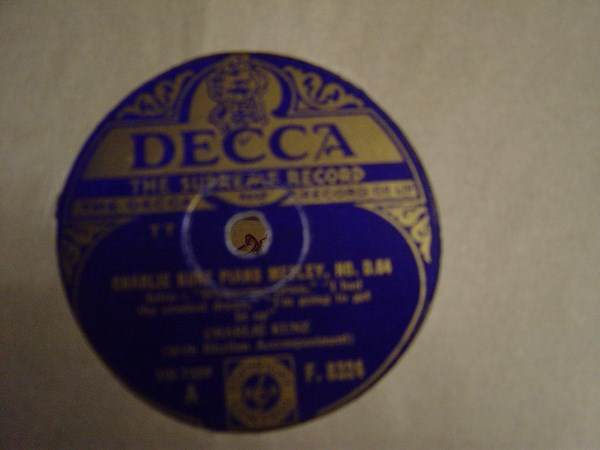 Charlie Kunz - Piano Medley No. 064 - Decca F.8324 UK