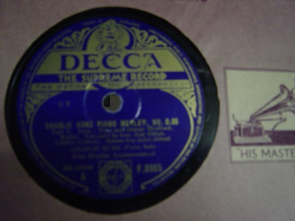 Charlie Kunz - Piano Medley No. 086 - Decca F.8965 UK