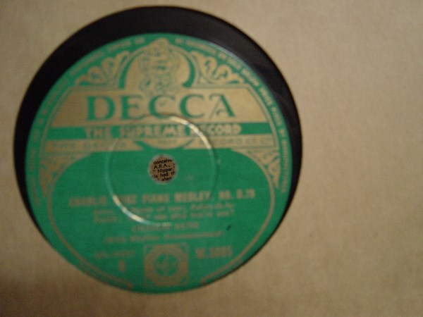 Charlie Kunz - Piano Medley No. 079 - Decca W.5095 Irish