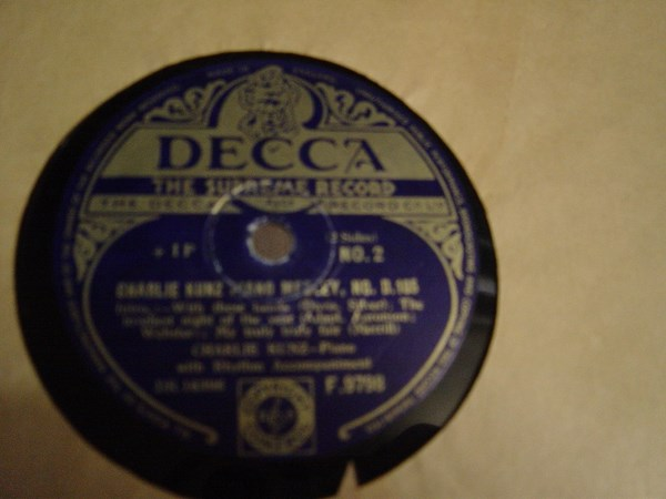 Charlie Kunz - Piano Medley No. 105 - Decca F. 9798 UK