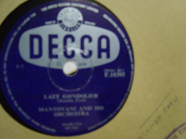 Mantovani - Lady Gondolier - Decca F.10395 UK