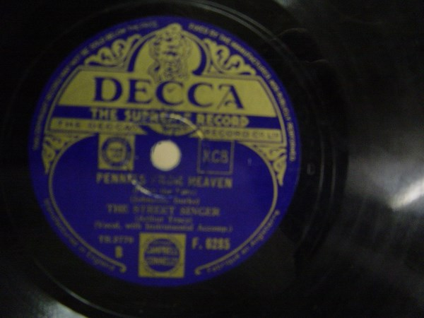 The Street Singer - So do I - Decca F.6285 UK