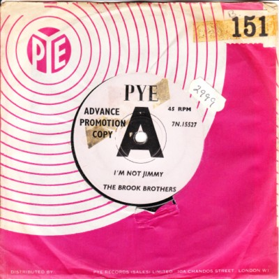 The Brook Brothers - I'm not Jimmy - Pye Demo