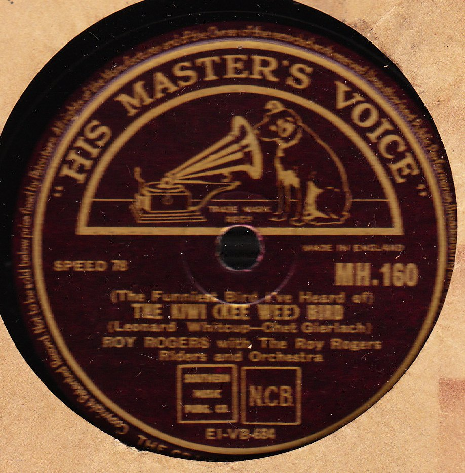 Roy Rogers - Pliney Jane - HMV M.H. 160