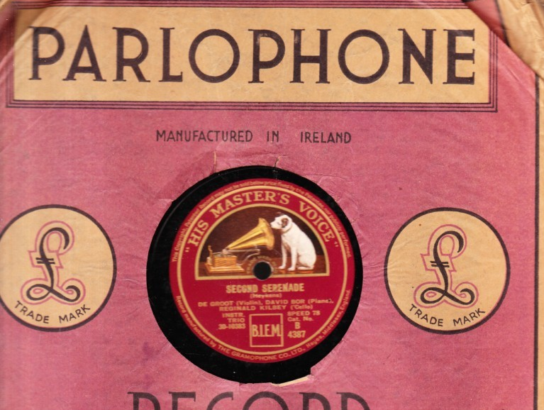 De Groot Bor & Kilbey - Second Serenade - HMV B.4387