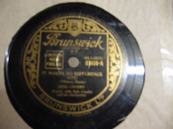 Bing Crosby - It makes no difference now - Brunswick 03456
