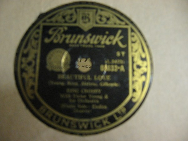 Bing Crosby - Beautiful Love - Brunswick 03633