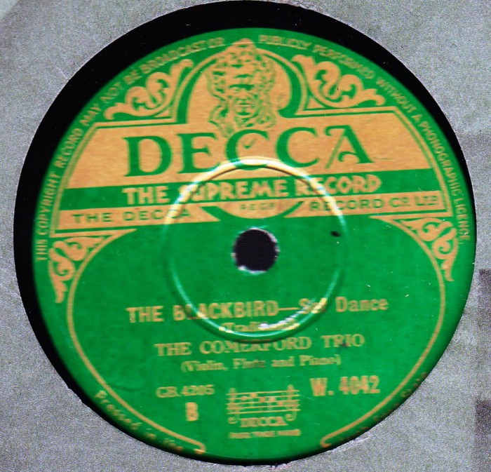The Comerford Trio - The Sea Captain - Decca W.4042