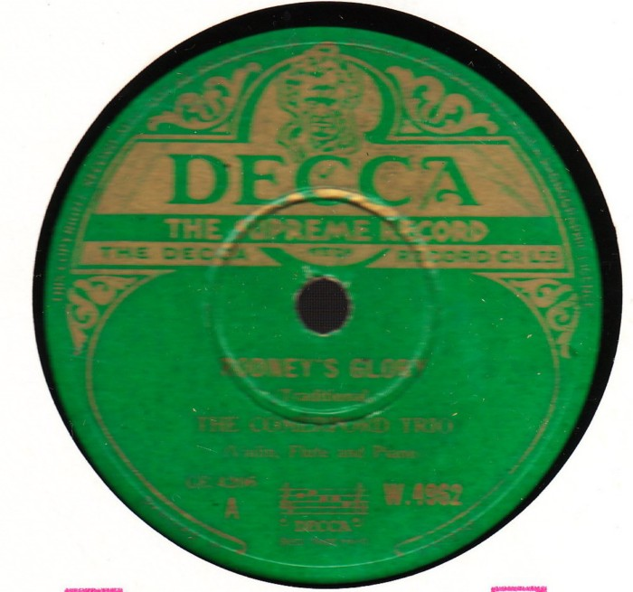 The Comerford Trio - Rodneys Glory - Decca W.4962