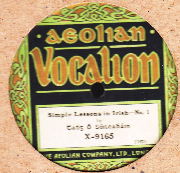 Tadhg O'Suileabhain - Simple Lesson in Irish - Aeolian Vocalion