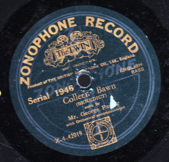 George Parker - Colleen Bawn - Zonophone 1946