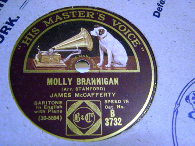 James McCafferty - Molly Brannigan - HMV B.3732