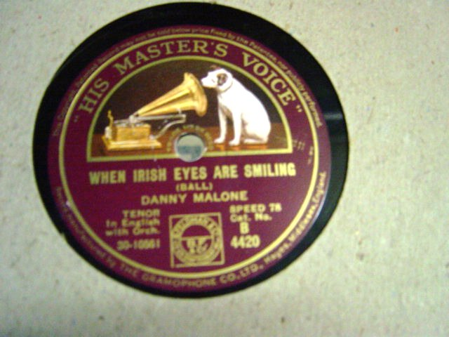 Danny Malone - When Irish eyes are smiling - HMV B.4420