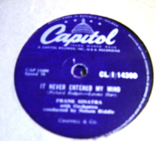Frank Sinatra - In the wee small hours - Capitol CL{I} 14360