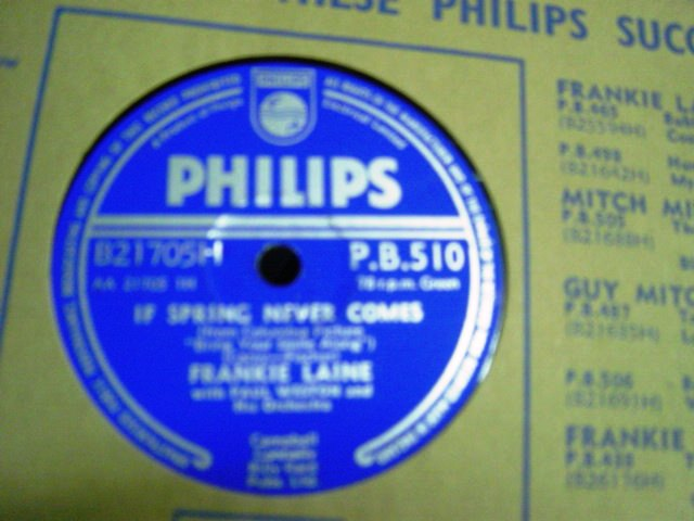 Frankie Laine - If spring never comes - Philips PB 510