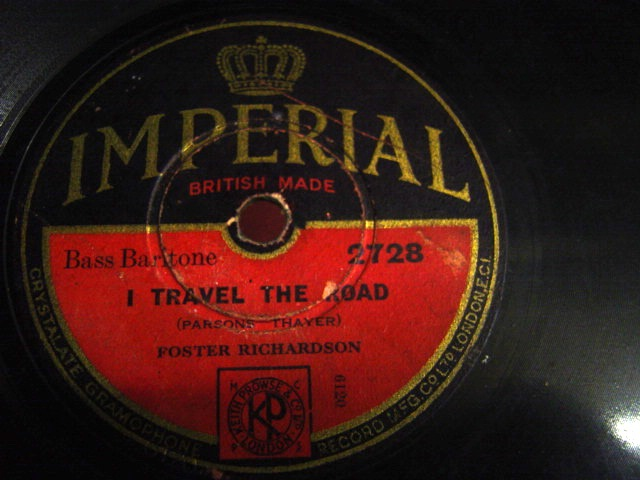 Foster Richardson - I travel the Road - Imperial 2728