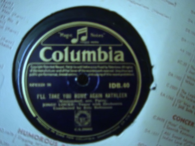 Josef Locke - I'l take you home Kathleen - Columbia IDB.40
