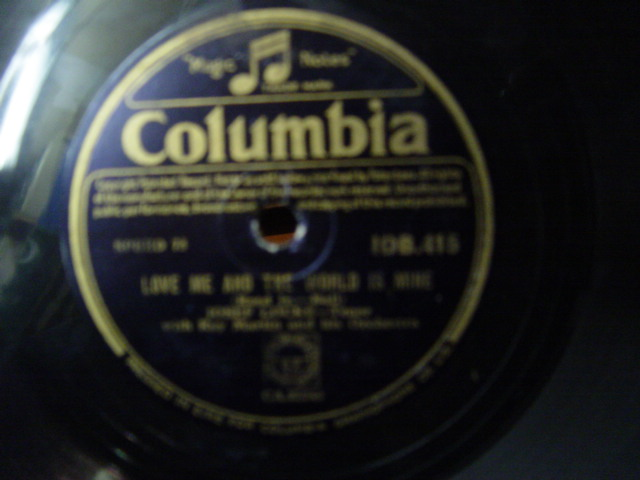 Josef Locke - Loves last word is Spoken- Columbia IDB.415